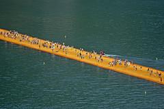 The Floating Piers (mangaddicted) Tags: italy orange lake art landart christo passerella iseo sulzano thefloatingpiers