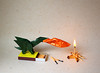 Target practice! (IG: bartfartsart) Tags: art paper fire origami dragon hobby creature interest folding mythical