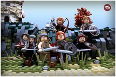 Cometh the Shield Maidens (Macsen Wledig) Tags: sea england cliff beach lego britain raid vikings saxon moc darkages anglosaxon shieldmaidens bricktothepast