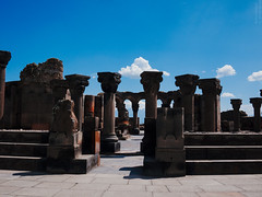 Zvartnots cathedral (lar-f) Tags: church architecture temple ruins outdoor columns armenia colonnade zvartnots