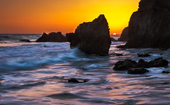 El Matador dor dor dor (donminer) Tags: ocean california blue light sunset orange sun white beach water rocks waves sundown pacific malibu goldenhour