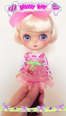 Pretty In Pink  #middieblythe #customblythe #blythe #blythedoll #doll (dancingdoll2772) Tags: doll blythe blythedoll customblythe middieblythe