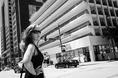 Crosswalk (Rich McPeek) Tags: street blackandwhite bw sun sunglasses concrete women pittsburgh fuji streetphotography fujifilm streetphoto intersection crosswalk xseries streetphotographer bwstreet streetbw xpro1 streettogs x100s