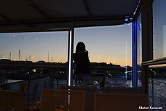- Rodos island (Eleanna Kounoupa) Tags: sunset sea bar port restaurant cafe silhouettes kontiki greece rodos     dodecaneseislands