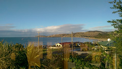 Looking towards Nugget Point  from the cabin at Kaka Point (oldad57) Tags: travel sea newzealand coast headland htconem8