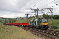 68005 & 68018 Lambrigg, Cumbria (DieselDude321) Tags: 68005 68018 drs direct rail services 6k27 1443 carlisle ny crewe basford hall ssm lambrigg cumbria daventry mossend class 68