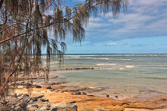 Trees At Beach (k009034) Tags: 500px waves australia copy space queensland tranquil scene beach clouds leaves nature no people ocean oceania rocks sea sky travel destinations water teamcanon copyspace tranquilscene nopeople traveldestinations