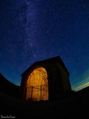 Ermita de San Miguel (Marcelo Esco) Tags: via lactea night nocturna milky way samyang san ermita pirineos miguel pre 75mm huesca prepyrenees milkyway vialactea