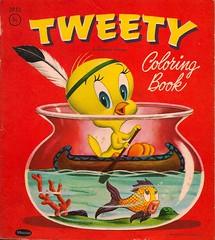 Vintage Tweety Coloring Book (Donald Deveau) Tags: tweety coloringbook warnerbros whitman