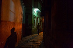 Streets of Varanasi (Akilan T) Tags: colors walking people lightandshadow lightanddark street evening varanasi chennaiweekendclickers cwc