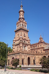 'Tower In Plaza de Espaa' (EZTD) Tags: eztd eztdphotography eztdphotos photos fotos sevilla seville sevilha spain espana espagne spana plazadeespaa torre tower expo 1929 expo1929 spainsquare sonyz1compact marialuisapark
