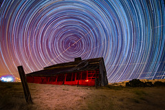 Perseid Red Barn Spinner (mistyhillranch) Tags: stars perseid astrophotography night nighttime longexposure
