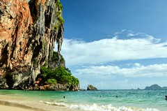 DSC_8126 (seanatron123) Tags: krabi thailand beach sand ocean nikond5100 karst waves phranangcavebeach asia