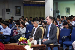 Over 200 students join State Department's Deputy Coordinator for Programs Thomas Smitham to watch and discuss the first presidential debates. (USEmbassyPhnomPenh) Tags: debate university opportunity american voter candidate electorate economy unemployment viewing discussion foreign policy international relations us diplomacy issues president