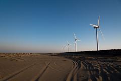 Wind power generators (Yuta Ohashi LTX) Tags: wind power generators 風力発電 神栖 茨城 日本 japan ibaraki kamisu landscape 風景 波崎 ウインドファーム 風車 windmill pinwheel nikon ニコン d750 24120 f4 outdoor sky beach sand 砂浜 轍