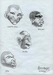 CHARGES - Os Heris Do Penta (Artemarcello - Criaes e Design -) Tags: artemarcello desenhosalpisgrafite charges gilbertosilva denlson felipo dida