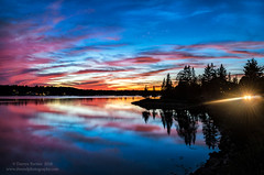 Twilight Drive (Dwood Photography) Tags: twilight drive twilightdrive dwoodphotography dwoodphotographycom maine mdi 2016 acadia pink red orange reflection car lights silhouette blue cove water