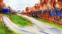 route 36 (Frdric Glorieux) Tags: frdricglorieux france route road peinture painting a4 acryl