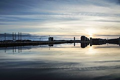 Approaching blue hour (Jo Evans1 - back before long) Tags: prince wales dock swansea smq clouds reflections approaching blue hour