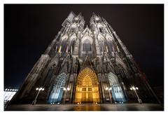 Cologne Cathedral by night (leo.roos) Tags: nachtopname nightshot longexposure colognecathedral kölnerdom domvankeulen september2016 a7rii voigtlanderheliarhyperwide10mmf56e darosa leoroos
