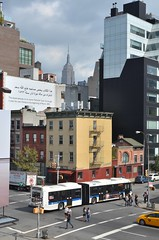 West 18th street & 10 avenue, Manhattan, NYC. (Ji-) Tags: street city nyc people newyork bus buildings nikon manhattan cab highline west18thstreet 10avenue nikon35mmf18g nikond5100