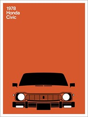 Print (Montague Projects) Tags: honda civic 1978 japanesedesign carposter