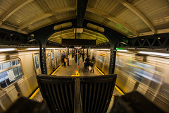 Astoria (spencer_r_allen) Tags: nyc longexposure travel newyork subway nikon wideangle fisheye queens 8mm rokinon d7100 nqline