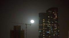 Moon (engine9.ru) Tags: sky moon mist window night buildings ngc abudhabi skyscrapper koyaanisqatsi