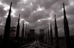MILANO la mia citt... (kri.photo) Tags: bw milan cathedral milano duomo guglie