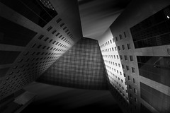 Abstract B&W (Fabdub) Tags: longexposure bw france building towers ladefense iledefrance noirblanc poselongue pentaxart pentaxblackwhite pentaxk3