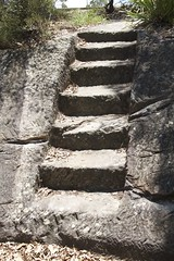 Stairs on the rocks (Val in Sydney) Tags: rocks stair harbour head sydney australia nsw headlands middle parc australie
