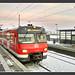 Handybild vom ET420, Bahnhof Erdweg, 02.Januar 2015