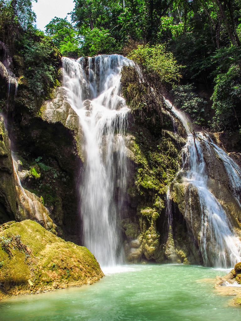 Waterfall Luang Prabang (TravelingShapy) Tags: Water Pool Swimming Out  Relax Waterfall Wasser Wasserfall