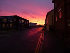 did you see the sunrise? 317/365 (dawn.v) Tags: road uk pink november england sky orange clouds sunrise golden glow earlymorning dorset poole 365days 365daysproject blandfordroad lumixtz25 portofpoole 365daysin2014 didyouseethesunrise