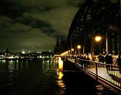 No Kgida (deeliah) Tags: bridge night river germany dark demo deutschland nacht dom cologne kln brcke rhein dunkel nokgida