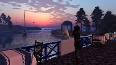 Open Rythmns (alexandriabrangwin) Tags: world ocean park sunset sea woman pelicans water computer gold boat flying back 3d cafe graphics oz dolphin nightclub national secondlife virtual sail groove calas overlooking chill bodiesofwater cgi laid governess alexandriabrangwin openrythmns