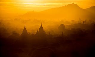 The last sunrise of 2014 - Picture taken in Bagan, Myanmar
