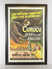 HM-45 Classic Horror Movie Poster - Curucu Beast of the Amazon (museum outlets) Tags: usa classic museum movie poster framed horror outlets giclee curucu