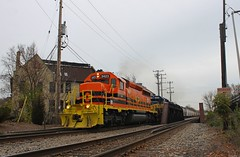 New Era (Nick(notreallyNick)Brown) Tags: railroad ice wisconsin train milwaukee end emd sd402 railfanning rcpe
