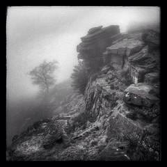 364/365 Stanage Edge, Derbyshire (scott.simpson99) Tags: winter bw mist tree misty fog landscape rocks derbyshire peakdistrict remote 365 hathersage iphone5 hipstamatic uploaded:by=flickrmobile flickriosapp:filter=nofilter