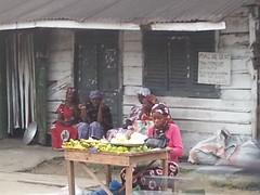 marktfrauen in Newbell, Douala