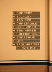 Verschil moet er zijn (Maurits van den Toorn) Tags: typography rotterdam cityhall letters lettering firstclass stadhuis typografie eersteklas trouwkamer