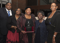 Donna Frisby-Greenwood (center) received The Leonard C. Ferguson Youth Advocate Award