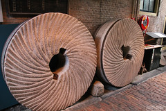 Giant millstones (Canadian Pacific) Tags: holland netherlands windmill dutch museum leiden south nederland millstone molen zuid windmolen devalk koninkrijkdernederlanden windmolenmuseum aimg1188