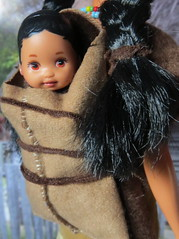 (38) Almost There (Foxy Belle) Tags: thanksgiving scale miniature doll native handmade ooak barbie plymouth first sew american 16 diorama dollhouse cradleboard playscale