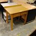 Oak 2 door small dressing table