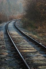 Węgiersko-Galicyjska Kolej Żelazna (Mirek Pruchnicki) Tags: tory jesień kolej