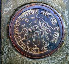 Charleston SC water meter cover (t55z) Tags: southcarolina charleston manholecover watermeter