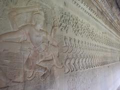 Churning of the Ocean of Milk (oledoe) Tags: temple angkorwat relief angkor apsara basrelief churningoftheseaofmilk churningoftheoceanofmilk samudramanthan អង្គរវត្ត អង្គរ wikipedia:en=samudramanthan set:name=201411preahvihearsiemreap 0tagged