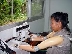 Disabled Thai woman